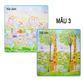 Thảm Bibo 2 mặt cao cấp cho bé - mẫu 3 (180x200x0.5cm)